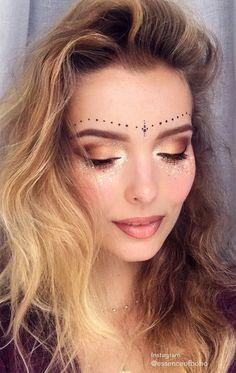 glitter freckles festival make up music festival look Glitzer Sommersprossen Festival machen Musik Festival Look Makeup Trends, Makeup Inspo, Makeup Inspiration, Beauty Makeup, 2017 Makeup, Teen Makeup, Hair Beauty, Makeup Tips, Style Inspiration