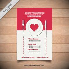 Menú de cena de San Valentín