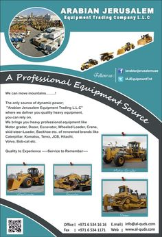 Good Morning Everybody, Welcome to the source of dynamic professional heavy equipment.  we are maintaining a huge stock of  versatile machinery with variety of specs to meet your needs with your exact requirements. visit us at: www.al-quds.com #heavyequipment #usedheavyequipment #constructionmachinery #ajc