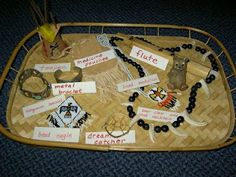 Native American object trays.