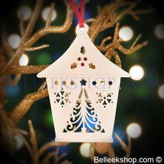 Belleek Christmas Tree Lantern - Christmas Tree Ornament