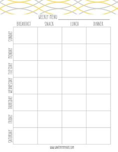 Using A Meal Planning Template Can Help You Organize Your Life A