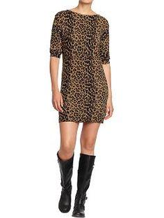 Women's Boatneck-Dolman Sweater Dress (Leopard). Old Navy. $49.94