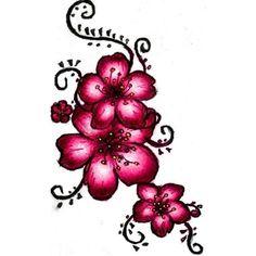 Tatouage de fleur de cerisier au henné