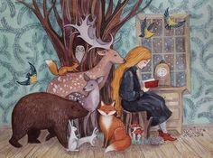 Просмотреть иллюстрацию Fairytales из сообщества русскоязычных художников автора Анна Спешилова в стилях: Графика, Детский, Классика, нарисованная техниками: Акварель.