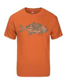 Tribal Fish Tee-Orange