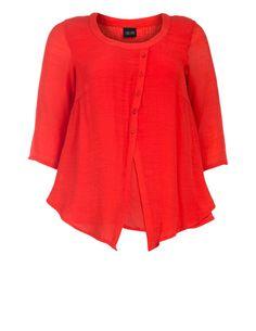 Strukturiertes Shirt mit 2-in-1-Optik von Choise in Rot. Strukturiertes Shirt mit 2-in-1-Optik jetzt bei navabi bestellen
