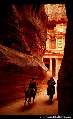 "To get the first glimpse of Petra from the back of a horse or a camel, just like all the other travellers through the ages did.        ""It seems no work of Man's creative hand,    by labour wrought as wavering fancy planned;      But from the rock as if by magic grown,    eternal, silent, beautiful, alone!      - John William Burgon."