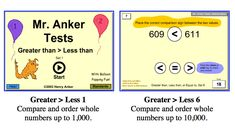 comparing integers 1 Integers, Place Values, Number Sense, Greater Than, Equality, Anchor, Social Equality