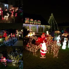 Not much snow, but a LOT of #Christmas on display in our #SantaClara hood ;)