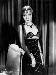 Claudette Colbert, 1934, in a publicity shot for Cleopatra