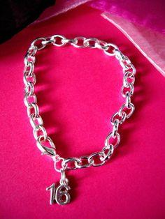 Personalised 16th 18th 21st 30th 40th 50th 60th Charm Bracelet Birthday Present