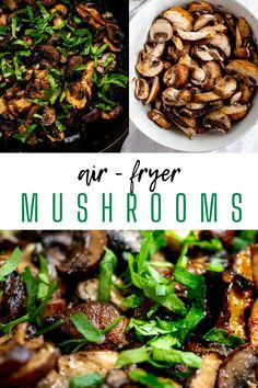 Mushrooms are my go-to forever favorite when it comes to adding a little something extra to steak, burger, chicken, pizza, or a wrap. It doesn't get much better than these Air Fryer Mushrooms. Perfectly cooked mushrooms in a lemon garlic butter sauce ensure that dinner bliss is imminent. No Air Fryer? You can make them in the o