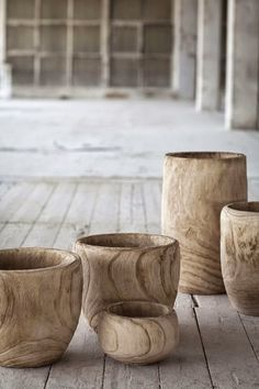 2.8.2015. Studioonline. How gorgeous are these wooden vessels! Bring a little piece of nature into your space.