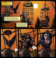 The first panels of issue 5 of Mythica.