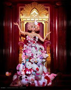 "Lady Gaga    Imagery: sitting on a Masonic throne, sun rays = sun worship, twin pillars, sexualization of children agenda = pedophilia agenda, ""As above, so below"" hand gesture, doll eyes = puppet/mind control"