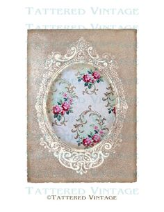 Tattered Cameo Frame Instant Download no191 by tatteredvintage, $4.00