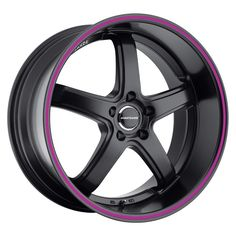 Avant Garde M350 Matte Black with Purple Pinstripe