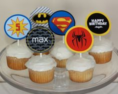 Mix and Match Superhero Cupcake Topper