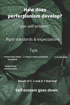 The relationship between low self-esteem and perfectionism I Want To Work, Does It Work, Cognitive Distortions, Low Mood, Low Self Esteem, Self Talk, Psychology Facts, Paradox, Anxious