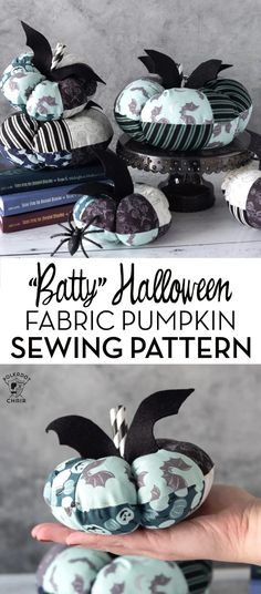 Create a fun stack of fabric pumpkins for Halloween with our free batty pumpkin sewing pattern. Fun Halloween Crafts, Halloween Fabric, Halloween Treats, Halloween Pumpkins, Fall Halloween, Halloween Decorations, Diy Sewing Projects, Sewing Tutorials, Sewing Patterns