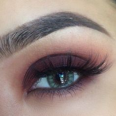 Amazing reddish-brown smokey eye with 'Bitten' from Makeup Greek & lashes named 'Ashley' from Flutter Lashes