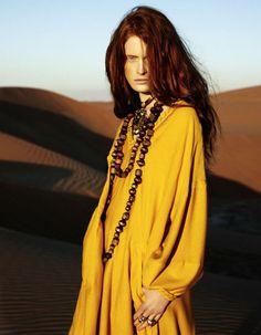 """""""De godin van de woestijn"""" in Elle Duitsland"""