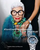 Iris Apfel 1-page clipping 2017 ad for TAGHeuer Watches