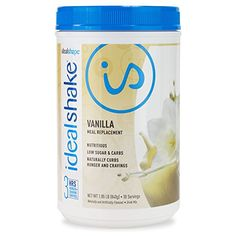 IdealShake, Meal Replacement Shake, Vanilla, w/ Hunger Blocker, FREE Shaker Bottle, 30 Servings