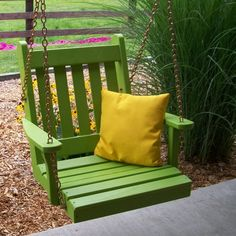 A U0026 L Furniture Yellow Pine Traditional English 2 Ft. Chair Swing With  Chains   A Cozy Hideout For One, The A U0026 L Furniture Yellow Pine  Traditional English ...