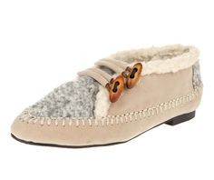 Ivory Tally Wool Loafers from Le Bunny Bleu