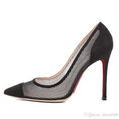 20% off discount ,custom size , color ,style , 12 cm and 9 cm http://www.dhgate.com/store/product/fashion-woman-shoes-pointed-toe-black-net/201797929.html