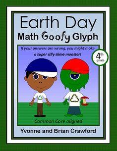 Earth Day Math Goofy Glyph for 4th grade - $