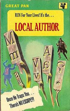 Local Author, by Stephen J. Gertz They take no guff from deadbeats. Original cover art by Casey Jones for Crackers in Bed by Vic Fredericks. Library Memes, Library Quotes, Reading Library, Library Books, Library Signs, Local Library, Detective, Pulp Fiction Book