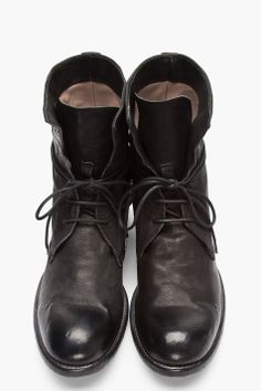 c60d91b3bed OFFICINE CREATIVE    Black Buffed Leather Cavallo Wash Boots 32346M047001  High-top leather boots