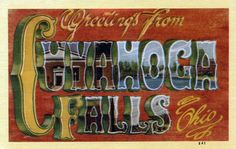 https://flic.kr/p/dtgymB | Greetings from Cuyahoga Falls, Ohio - Large Letter Postcard | Production Date: Circa 1945 Source Type: Postcard Printer, Publisher, Photographer: Central News Company, Dexter Press (#841, #30368) Postmark: None Collection: Steven R. Shook  Tenney and Hilbert Published Market Price in 2009: $2-$4  Source: Tenney, Fred, and Kevin Hilbert. 2009. Large Letter Postcards: The Definitive Guide 1930s to 1950s. Atglen, Pennsylvania: Schiffer Publishing, Ltd. 176 p…