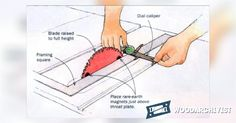 Check Table Saw Setup with Magnets and a Framing Square - Table Saw Tips, Jigs and Fixtures | WoodArchivist.com