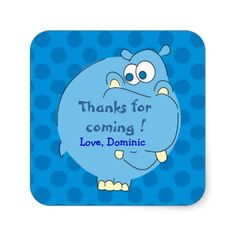 Get your hands on great customizable Thank You stickers from Zazzle. Choose from thousands of designs or make your own today! Cute Hippo, Polka Dot Party, Thank You Stickers, Blue Polka Dots, Make Your Own, Thankful, Diy Crafts