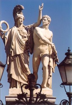 Schlossbrucke Gallery: Image 23 of 31 Ancient Greek Sculpture, Ancient Art, Roman Sculpture, Sculpture Art, Masculine Art, Greek Mythology Tattoos, Greek Paintings, Greek Warrior, Greek Gods And Goddesses