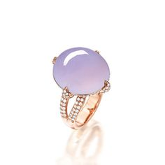 ICY LAVENDER JADEITE AND DIAMOND RING