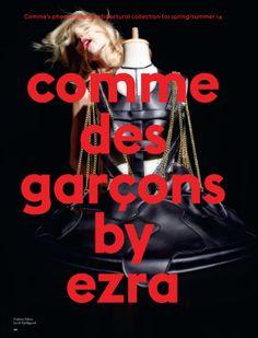 Comme Des Garçons: #AnjaRubik by #EzraPetronio for #Love #11 S/S 2014
