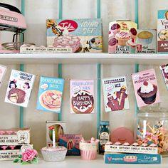 Fast & Fun DIY vintage mini play food box garland…with FREE printable!