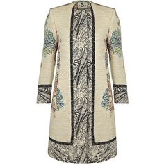 Etro Printed Duster Coat ($1,900) ❤ liked on Polyvore