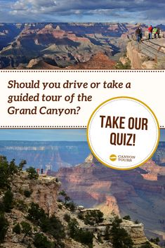 Can't decide whether to drive yourself or take a guided tour of the Grand Canyon? Take our quiz and find out! Visiting The Grand Canyon, Tour Guide, Traveling By Yourself, Las Vegas, Take That, Tours, Last Vegas, Travel Guide