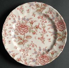 "ROSE CHINTZ-PINK (""MADE IN ENGLAND""STAMP - Replacements Ltd."