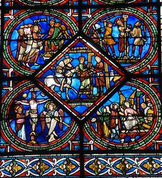 Good Samaritan Window, Sens Cathedral, 1210. Photo Michel Raguin