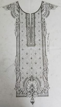 Zardozi Embroidery, Couture Embroidery, Ribbon Embroidery, Border Embroidery Designs, Bead Embroidery Patterns, Quilting Designs, Jewelry Design Drawing, Hand Embroidery Projects, Pencil Design