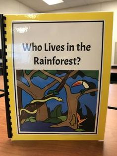 """""""Who Lives in the Rainforest? Rainforest Activities, Therapy Ideas, Speech And Language, Comprehension, Sentences, Kindergarten, Target, Students, Create"""