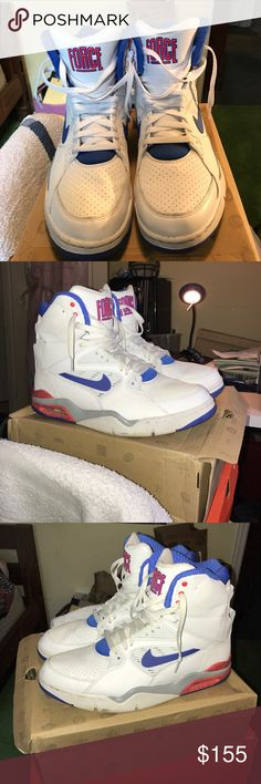 Nike Air Force 180 Had them for maybe a year and a half, but haven't worn them that much. Still a great shoe, I'm open to offers! Nike Shoes Athletic Shoes