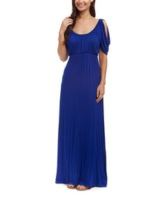 Love this GLAM Royal Blue Cutout Maxi Dress by GLAM on #zulily! #zulilyfinds